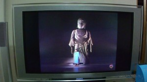 テレビが映りました。
